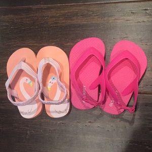 Baby girl size 5 flip flops